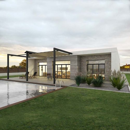Diseño casa moderna DOMEN3
