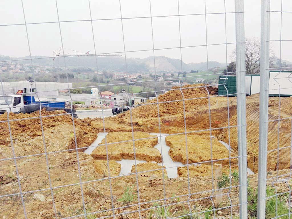 Cimentación construcción chalet