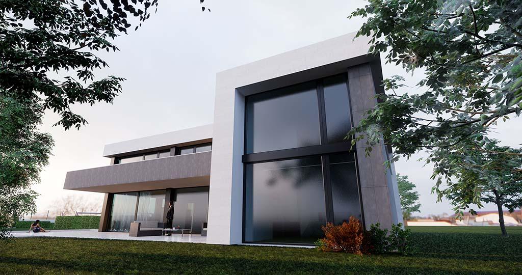 Diseño casa moderna MYSTRAL piscina 2