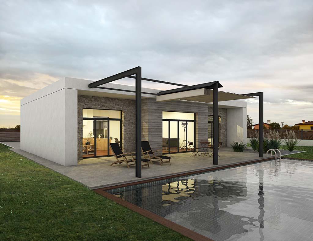 Diseño casa moderna DOMEN1