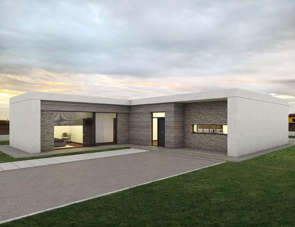 Diseño casa moderna DOMEN2
