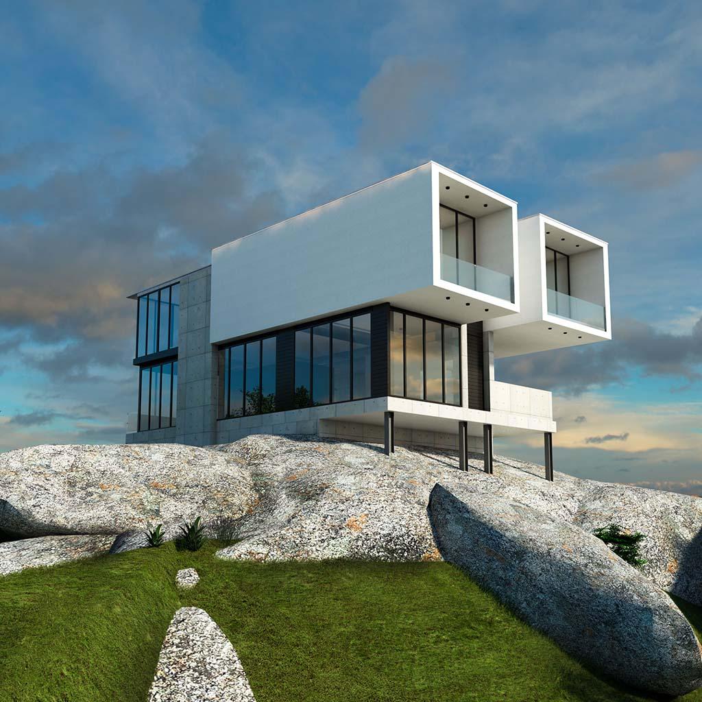 Casa Chalet moderno ROC-01