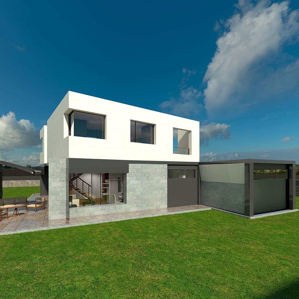 Casa Chalet moderno TAMAR-01