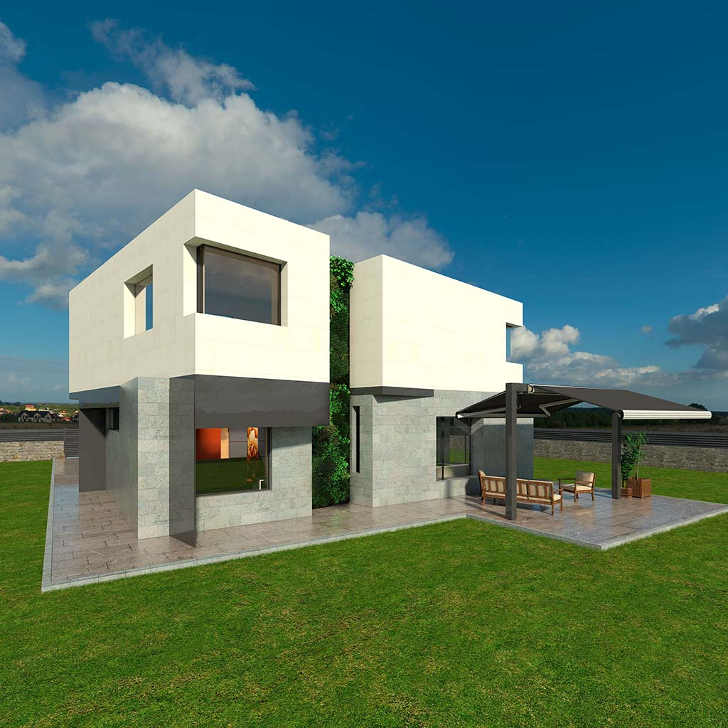 Casa Chalet moderno TAMAR-02