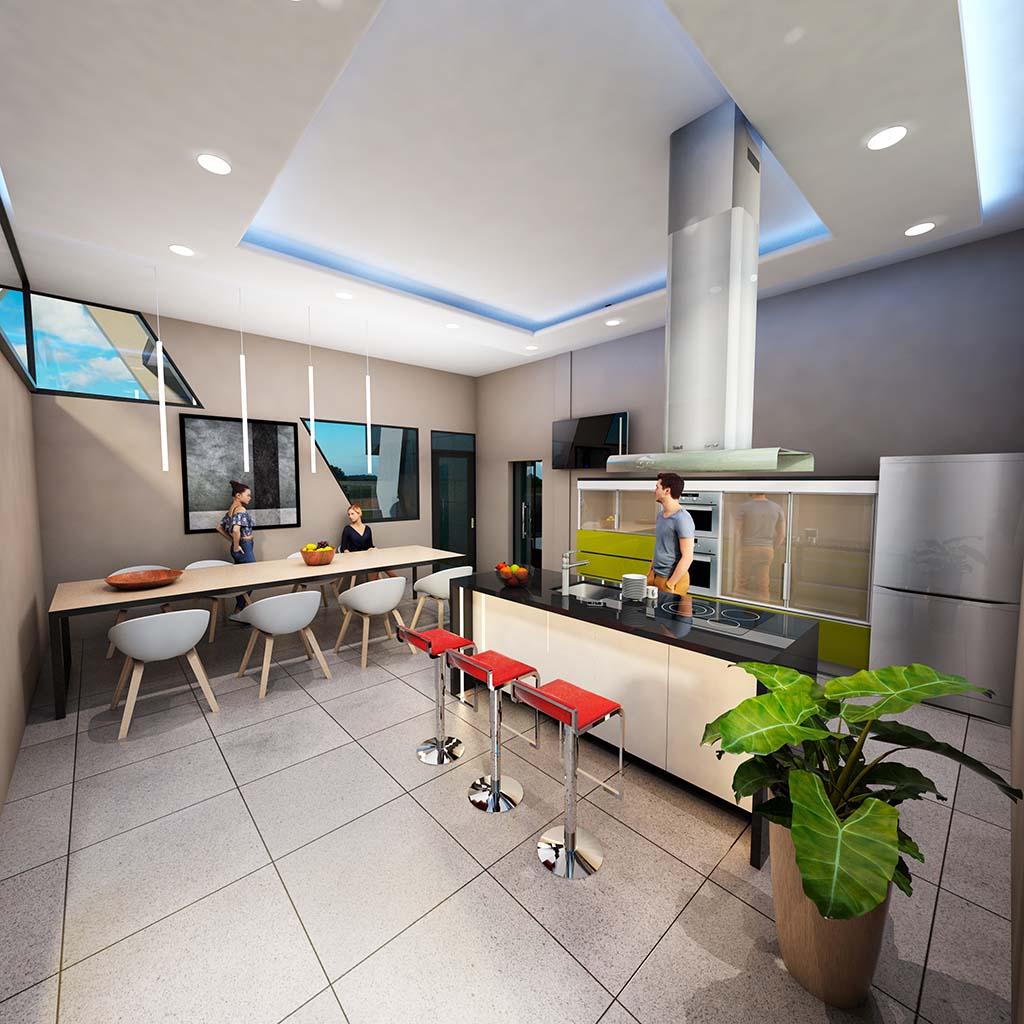 Diseño Casa moderna TIARA-05