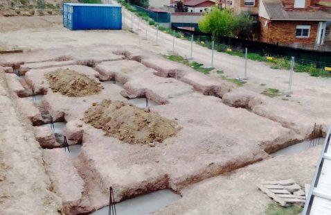 Cimentación para construcción de casa