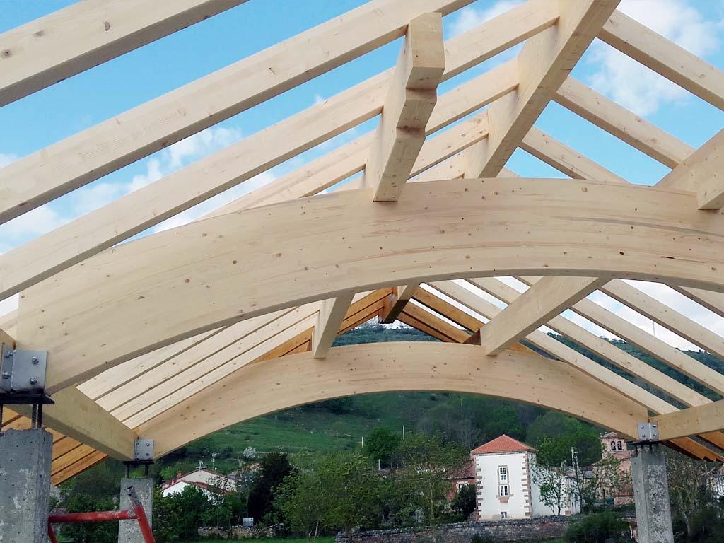 Estructura de madera para chalet