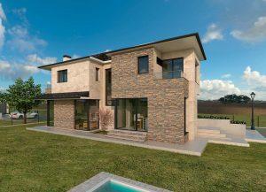 Diseño casa piedra