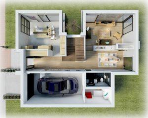 Plano distribución Casa piedra 2
