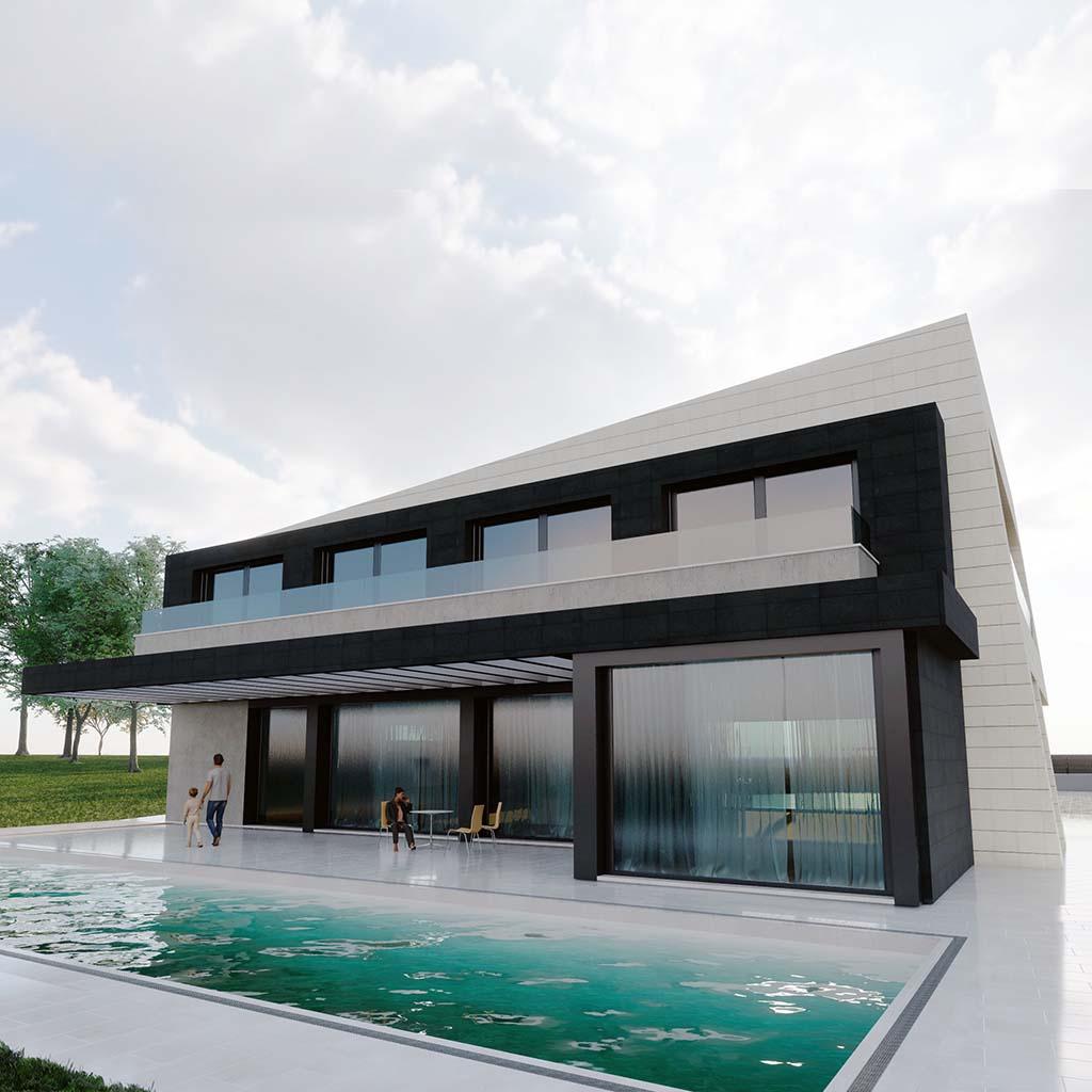 Diseño construir casa MERION 4 ft