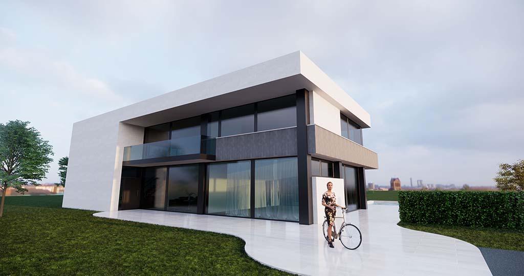 Diseño casa moderna MYSTRAL piscina 1