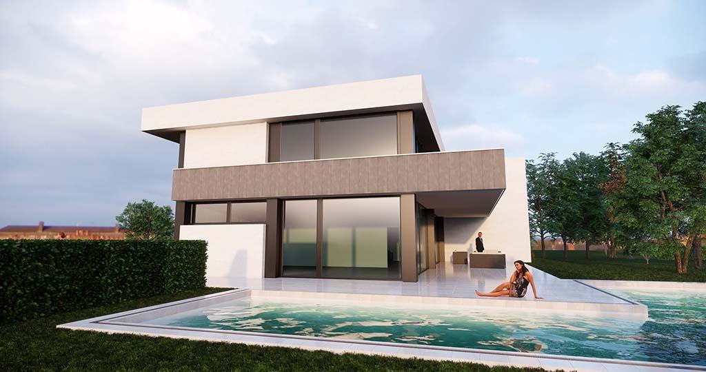 Diseño casa moderna MYSTRAL piscina 4