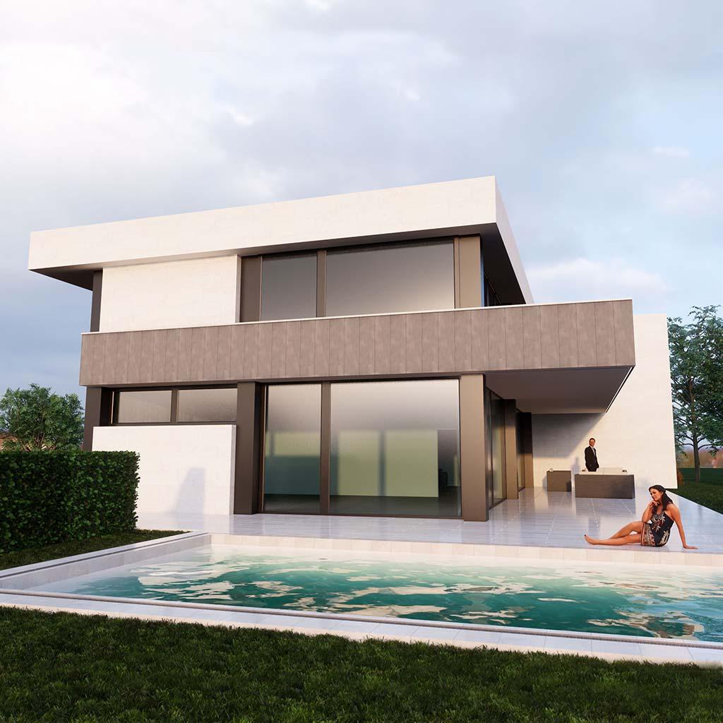 Diseño casa moderna MYSTRAL piscina ft