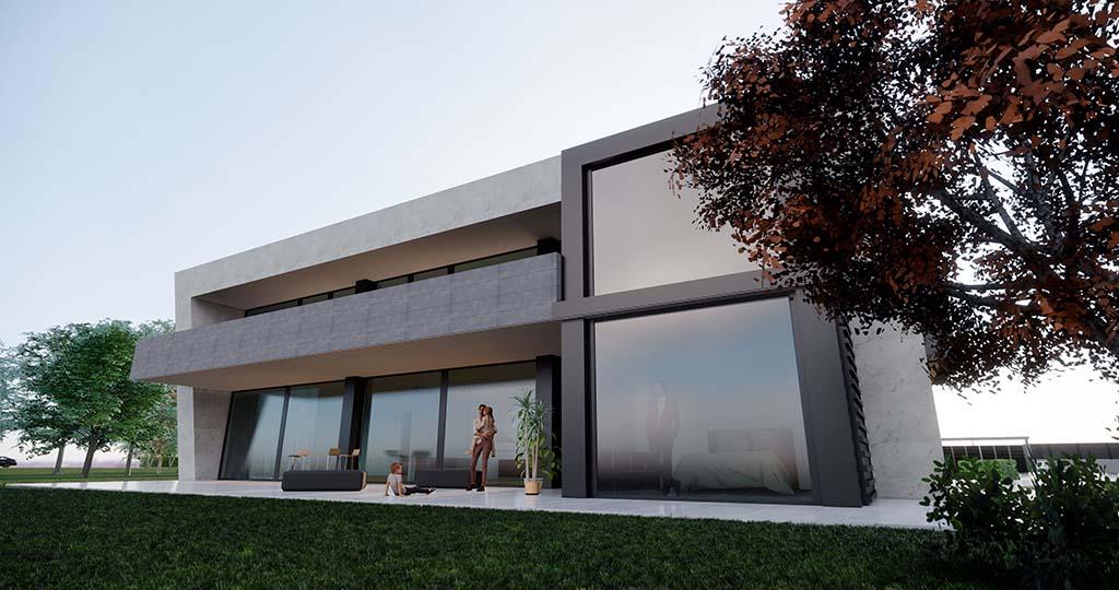 Diseño casa moderna PARTERA 4