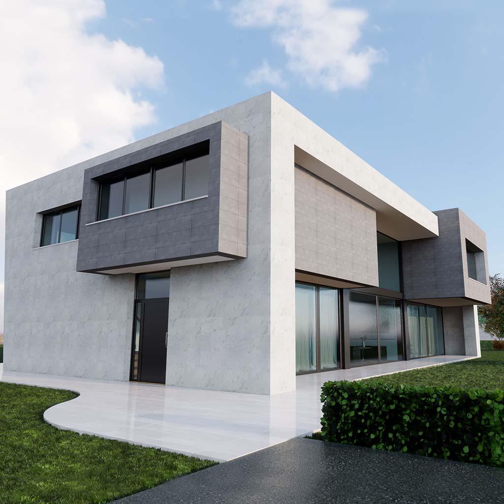 Diseño casa moderna PARTERA ft