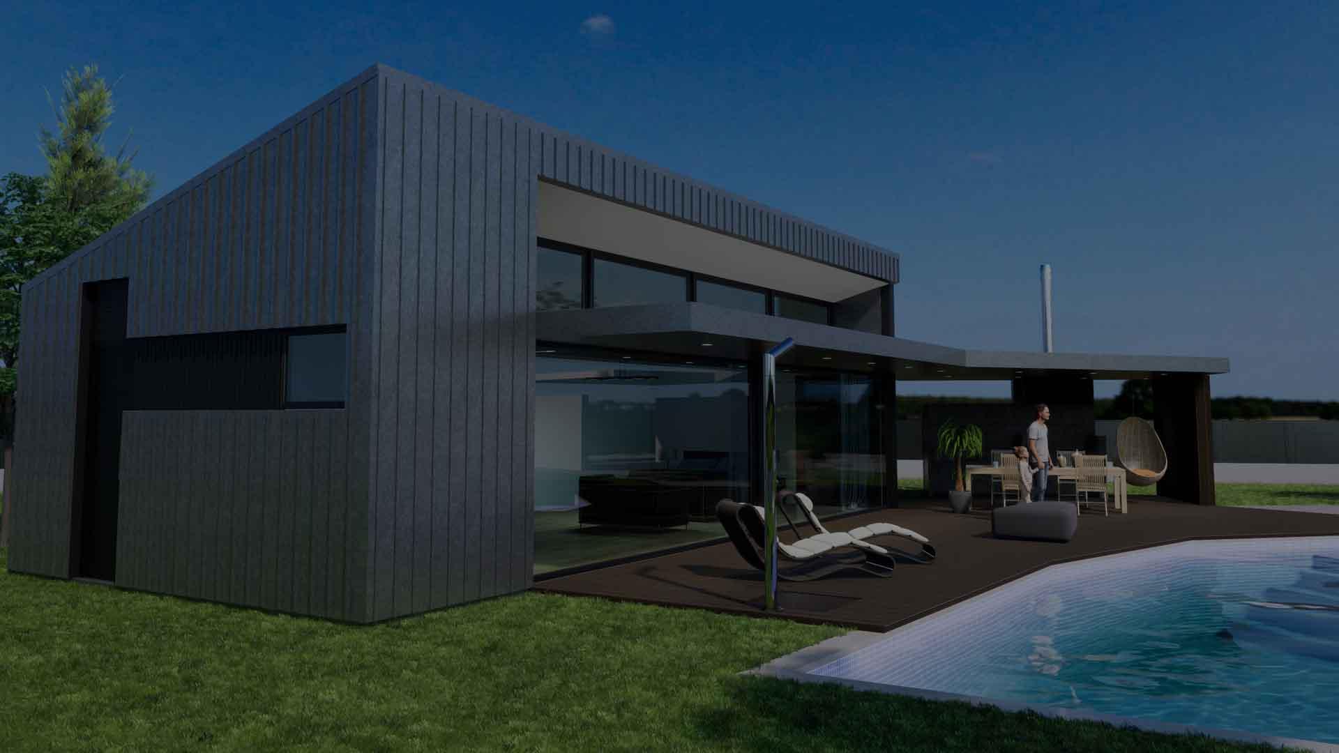 Banner construccion casa moderna