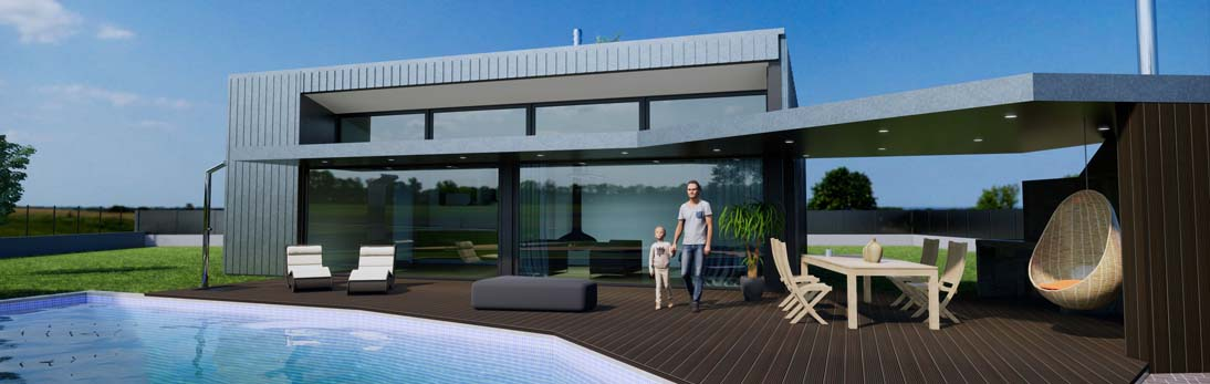 diseño construccion casa moderna