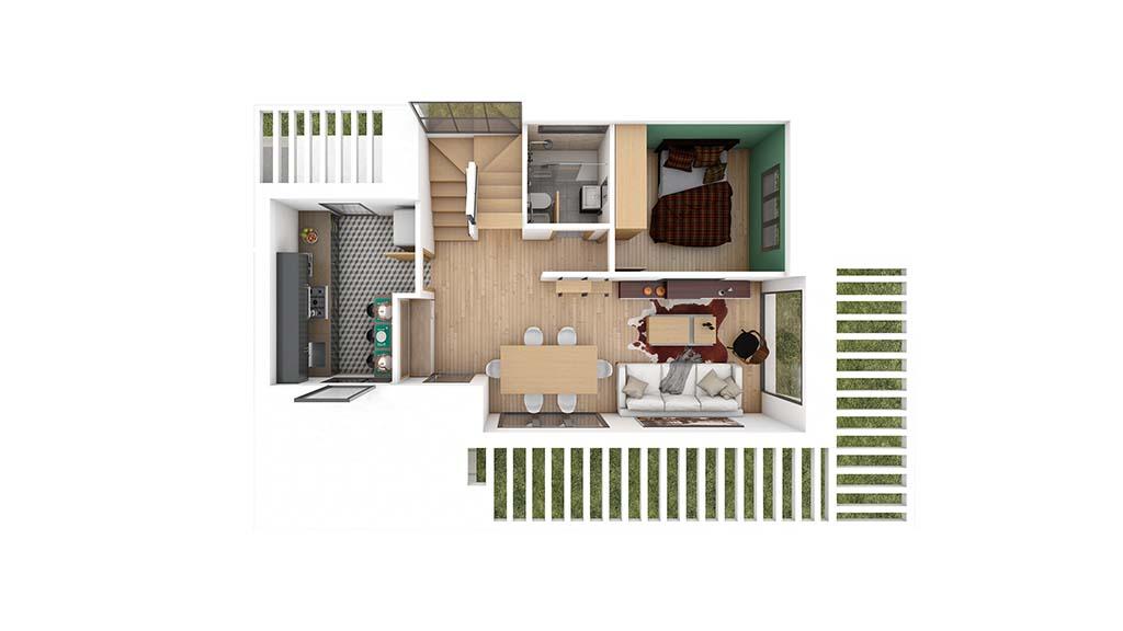Construccion casa ALMERA Diseño Planta Baja