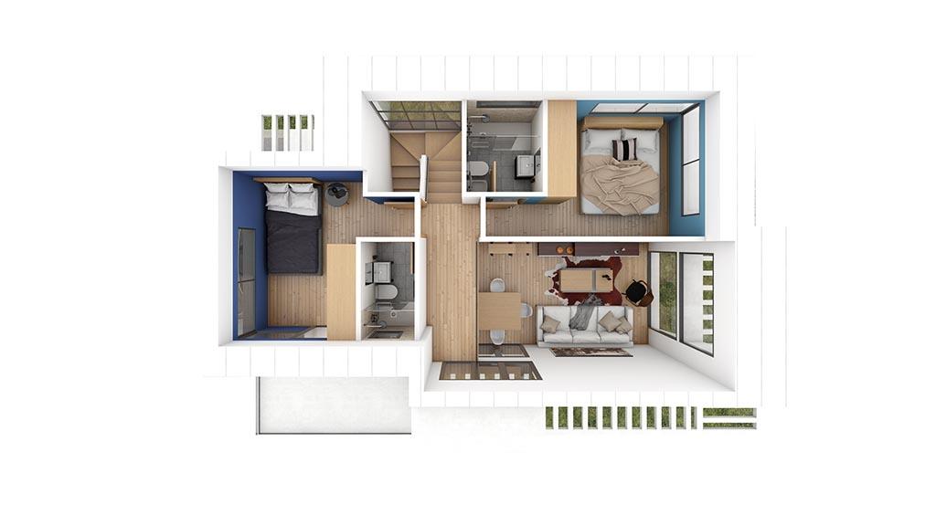Construccion casa ALMERA Diseño Planta Primera