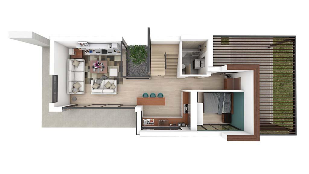 Construccion casa BASLA Diseño PLANTA BAJA