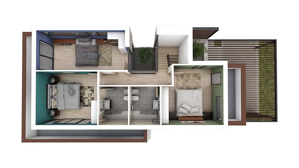 Construccion casa BASLA Diseño PLANTA PRIMERA