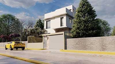 Proyecto construccion casa moderna a1