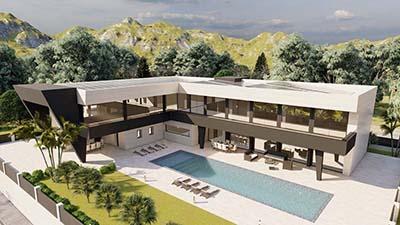 Proyecto construccion casa moderna b1