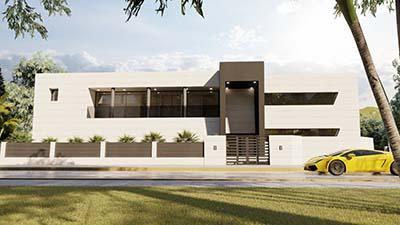 Proyecto construccion casa moderna b3