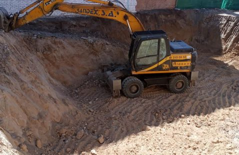 Excavación construcción vivienda