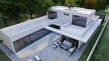 Diseño construir casa moderna 1