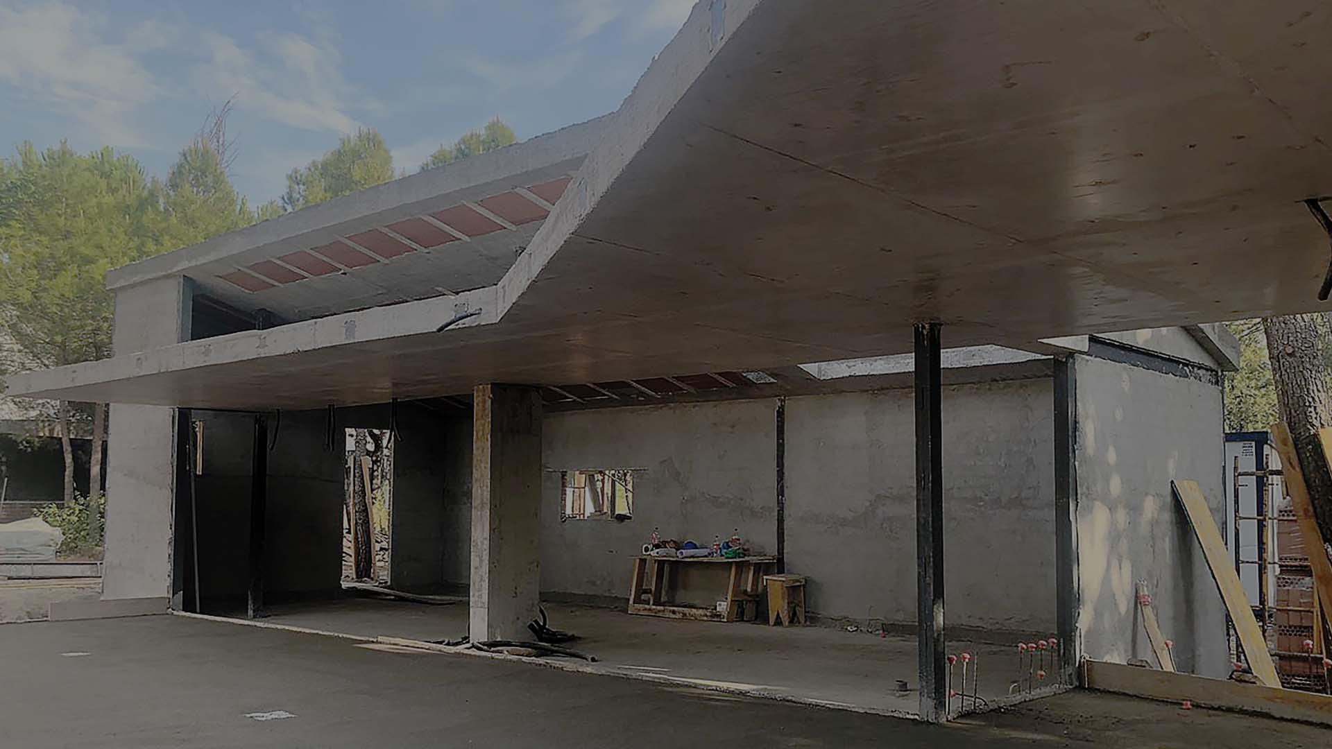 Fondo hormigon construccion casa